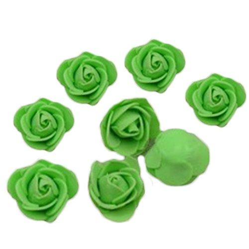 Dosige 50 Stück Foamrosen Schaumrosen Künstliche Rosen Blume Brautstrauß für Hochzeit Party Haus Dekor 3-3.5cm Grün