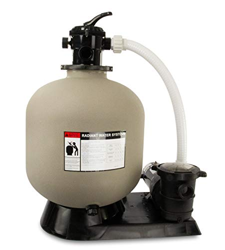 Rx Clear Radiant Complete Sand Filter System | for Above Ground Swimming Pool | Extreme Niagara 1.5 HP Pump | 22 Inch Tank | 220 Lb Sand Capacity | Up to 26,000 Gallons
