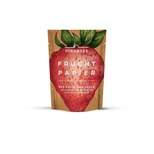 6x Getrocknete Früchte als Fruchtpapier (je 40g) - Frucht Snack aus Erbeere & Apfel luftgetrocknet - Trockenobst Dörrobst Superfood für Büro, Snack, Frühstück