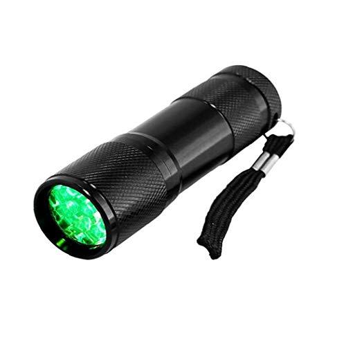 Uayasily Linterna LED antorcha Linterna de luz Verde Solo Modo de luz Verde con la Cuerda para Plantas Crecen Noche Observación
