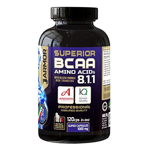 Aminoácidos ramificados suplemento de bcaa 8.1.1 Kyowa vitamina B6 120 cápsulas de 1000mg Vegano