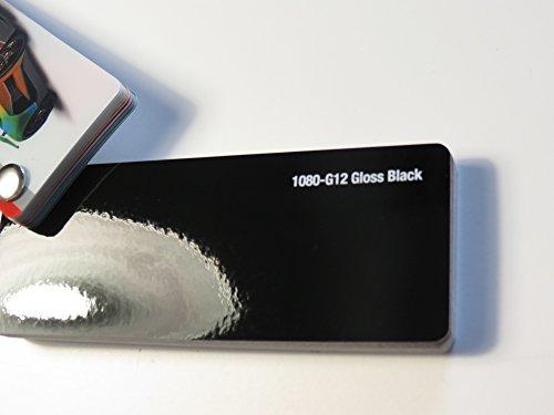 3M (27,8€/m2) Scotchprint Wrap Film Series 1080 Glanz Schwarz gegossene Autofolie 200 x 152 cm Zuschnitt