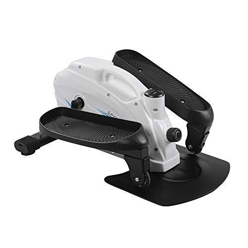 ONETWOFIT Seated Under Desk Elliptical Machine for Home Workout Compact Mini Exerciser w/Adjustable Resistance & LCD OT194