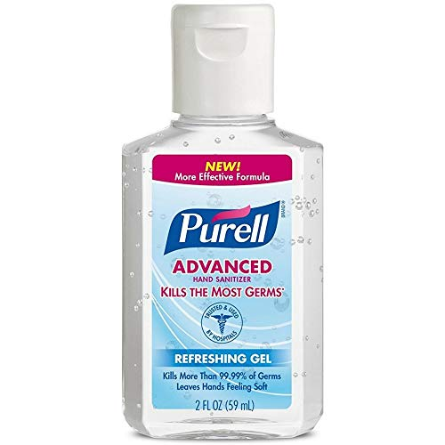 Purell Advanced Hand Sanitizer Refreshing Gel 2 oz (Pack of 6)