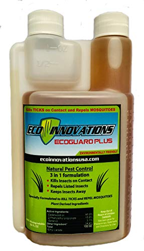 Eco Innovations, Ltd; EcoGuard Plus, 16 ounce, All Natural Tick and Mosquito Control Concentrate for Spray Applications in Lawn and Landscape