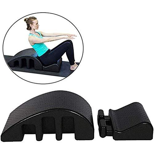 A&DW Pilates Arc-Massage-Bett Massage Tisch Spine Pilates Arc Spine Corrector Ausrichtung Back Pain Relief, Schwarz