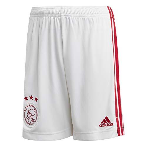 adidas Amsterdam Temporada 2020/21 AJAX H SHO Y Pantalón Corto Primera equipación, Niño, Blanco, 128