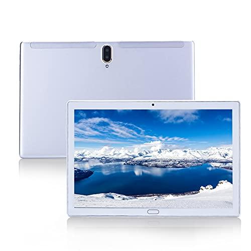 新しいタブレット10.1インチAndroid8.0、2GB RAM + 32GBROMデュアルSIM2MP + 5MPカメラ、WiFi、Bluetooth、GPS、クアッドコア タッチスクリーン、マイクロSDカードスロット、高性能 (white)