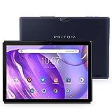 Pritom Tablet 10,1 Zoll Android WiFi Tablet, 2 GB RAM, 32 GB ROM, Quad-Core Prozessor, HD IPS Bildschirm, 5000 mAh Akku, 2.0 Front- und 8.0 MP Dual Kamera, Bluetooth, Tablet PC (schwarz)