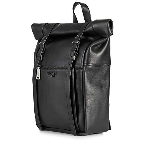 Berliner Bags Rucksack Lille aus echtes Vollnarbiges Leder 13-14 Zoll Laptopfach...