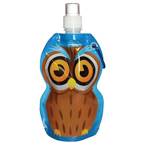 Kids Folding Water Bottle - Owl - Yellowstone