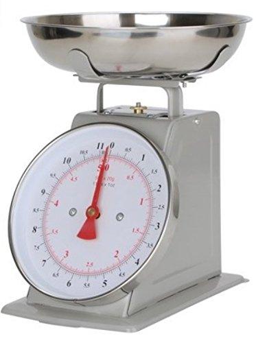 All Metal Kitchen Scale Manual 22-lbs 10-Kilo Balanza De Cocina Stainless Steel Silver