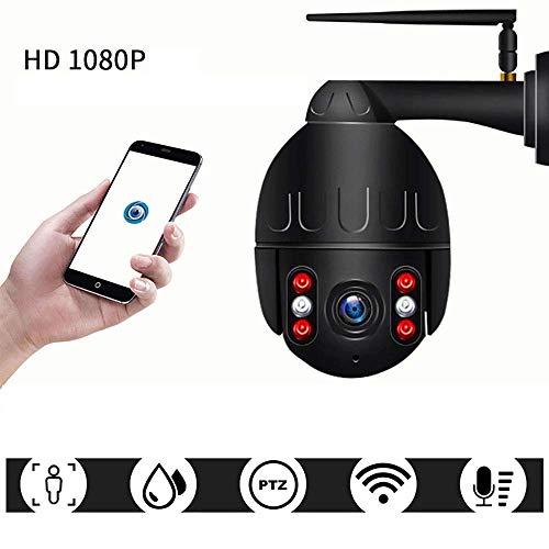 Wifi-camera met automatische bewaking, waterdicht, met nachtzicht, 2 Vie en bewegingsdetectie, wit, Nocard, With32card, Zwart