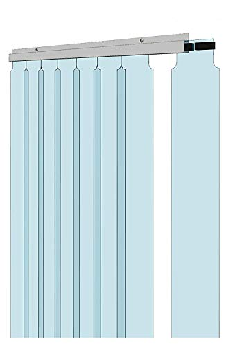 """Awoco 38"""" x 84"""" Vinyl Strip Climate Control Curtain Kit, Slide-in Strips Perfect for Freezers, Coolers and Warehouse Doors NSF Approved"""