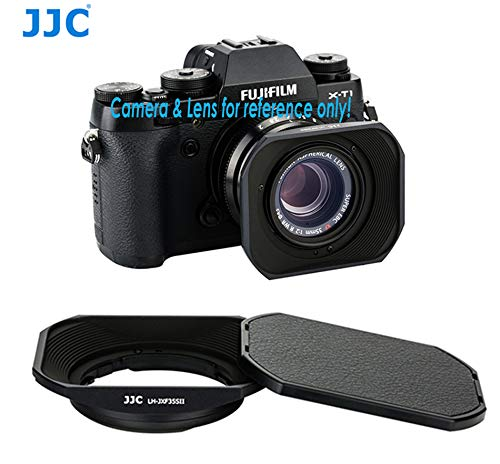 JJC Bajonett Dedicated Metall Gegenlichtblende für Fuji Fujinon-Objektiv XF 23mm F2R WR, Fujinon XF 35mm f2R WR, ersetzt Fujifilm lh-xf35–2Gegenlichtblende
