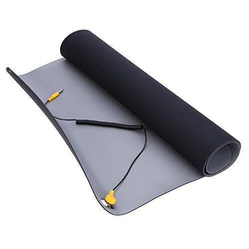 Demiawaking 700 x 500 mm, 2,0 mm, antistatisch, weiche Bodenmatte + ESD-Handgelenk + Kordel für PC- und Handy-Reparatur