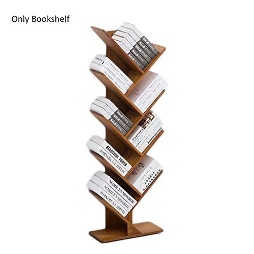 Étagère en bois créative en forme d'arbre d'étagère en bois de ménage, support de stockage de stockage de livre (Color : Natural)