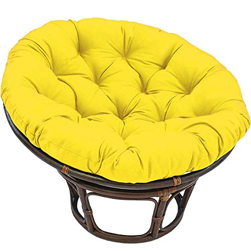 MSTOLL Patio Hanging Swing Chair Pads removable Hanging Basket Chair Cushions Soft Papasan Chair Cushion-90x90cm(35.4x35.4 yellow