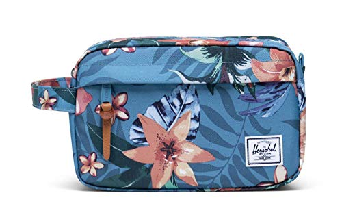 Yunshm Gray Palm Leaves With Blue Strokes Seamless Personalized Trolley Handbag Waterproof Unisex Large Capacity For Business Travel Storage