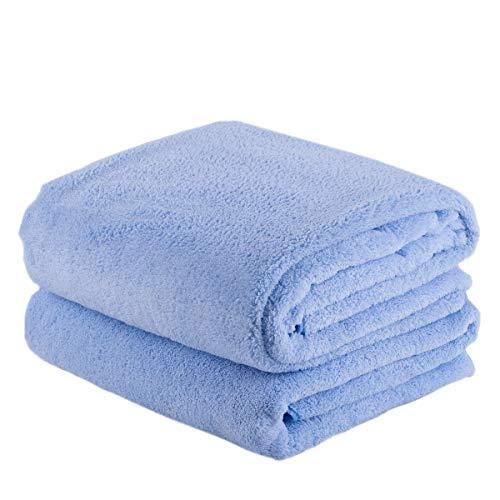 "Jml Luxury Hotel & SPA Bath Towels (2 Pack, 30""x60"") - 350GSM High Density Fleece Towel Sets - Super Soft and Absorbent, Lint Free, Fade Resistant Oversized Bath Towel, Blue"