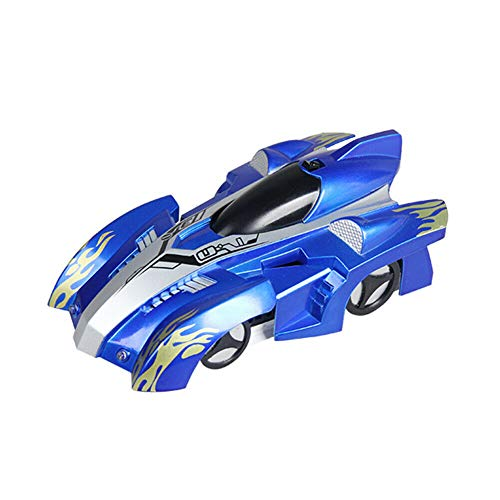 Remote Control Car,Radio RC Wall Climbing Car with LED Lights - 360°Rotating Stunt, Rechargeable, Low Power Protection - RC (Sky Blue , OneSize)