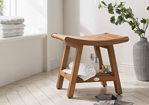 SPA Badezimmerhocker Japan mit Zwischenboden Hocker Tisch Teak Teaktisch Japan Design