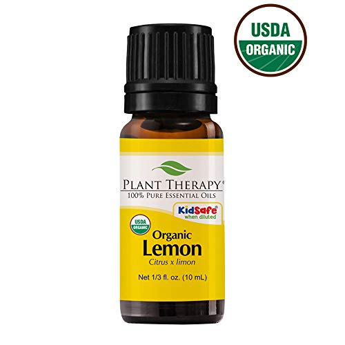 Plant Therapy Lemon Organic Essential Oil | 100% Pure, USDA Certified Organic, Undiluted, Natural Aromatherapy, Therapeutic Grade | 10 milliliter (1/3 ounce)