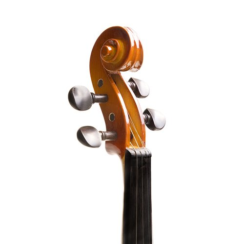 Mendini MV400 Ebony Fitted Solid Wood Violin with Hard Case, Shoulder...