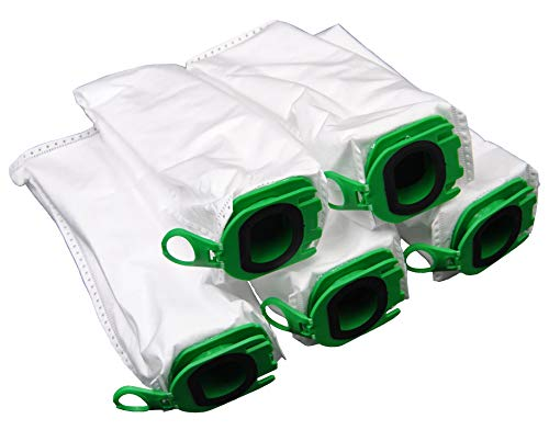 Leaben, 5 sacchetti per aspirapolvere di ottima qualità, adatti per aspirapolvere a batteria Vorwerk Folletto VB100 VB 100
