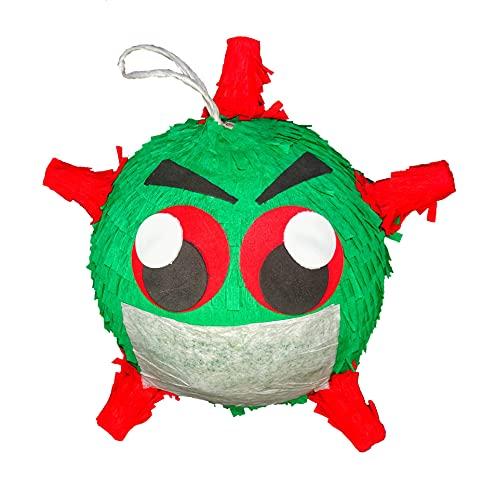 CTT Pinata Quarantine Vaccination Party- Vi_rus Pinata Co_vid Decorations - 11″ Round- Piñata Made in USA