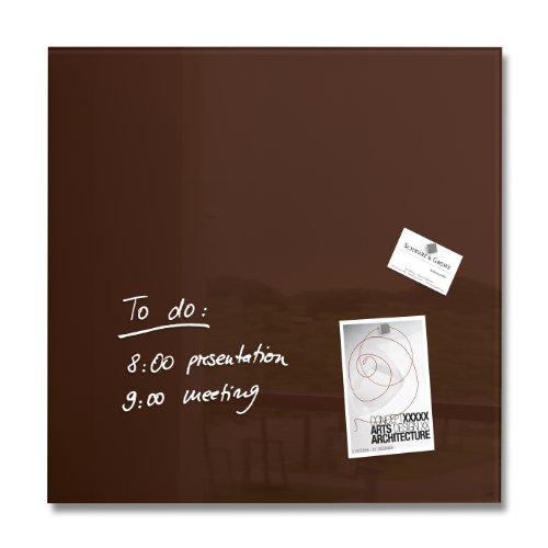 Sigel GL112 Glas-Magnetboard / Magnettafel artverum, mocca/braun, 48 x 48 cm - weitere Farben auswählbar