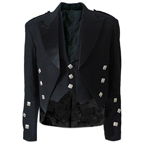 Tartanista - Veste et veston Prince Charlie - pour garçon - noir - 51 cm