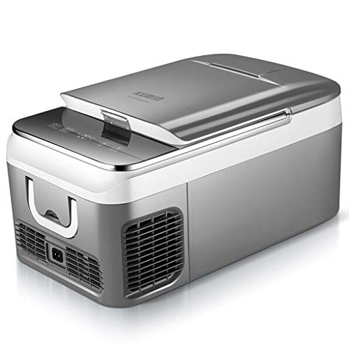 NZ-mini refrigerator Compresor de automóvil portátil Frigorífico, 12 V / 24 V - Gris (Tamaño: 18L)
