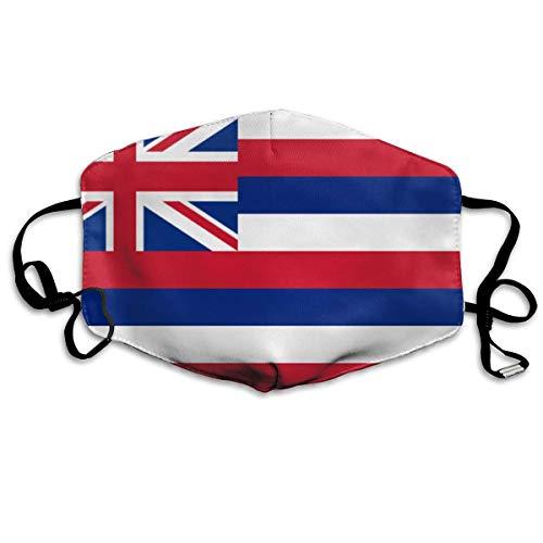 Hawaii Vlag Gedrukt Herbruikbare Filter Vervanging Stofdichte Sport Neus Mond Bescherming UV Schutz Voor Vrouwen Mannen Gezicht Cover Stofdicht