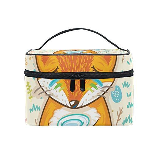 Trousse de maquillage avec fermeture à glissière pour sac cosmétique Embrayage Grand rêve Fox monocouche Sac de rangement de voyage portable Sac carré pour femme dame