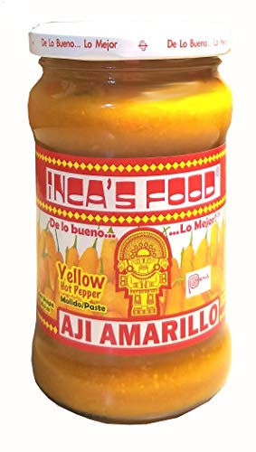 Inca's Food Aji Amarillo - Yellow Hot Pepper Molido/paste 10.5oz - Product of Peru