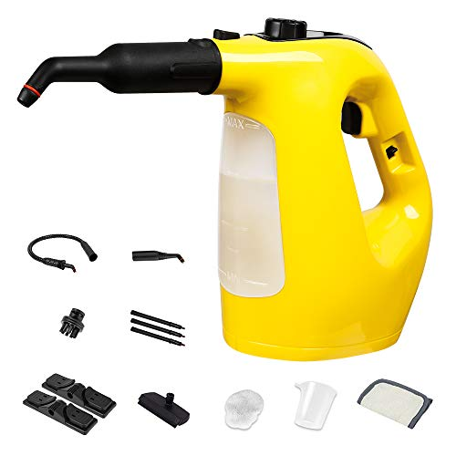 Lowest Prices! SUNVIVI Handheld Pressurized Steam Cleaner 12-Piece Accessory Set, Multi-Purpose Mult...