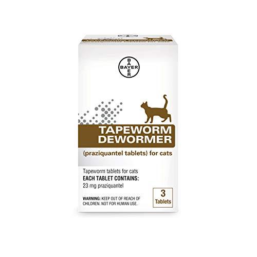 Bayer Tapeworm Dewormer (Praziquantel Tablets) for Cats, 3-Count Praziquantel Tablets for Cats and Kittens 6 Weeks and Older