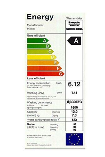 ariston-hotpoint - Lavadora-Secadora - Hotpoint Aqd1071D 69 Eu 10Kg De Lavado, 7Kg De Secado, 1600 Rpm, A