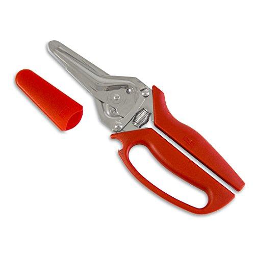 Kuhn Rikon 3-in-1 Snips Kitchen Shears, 9', Red
