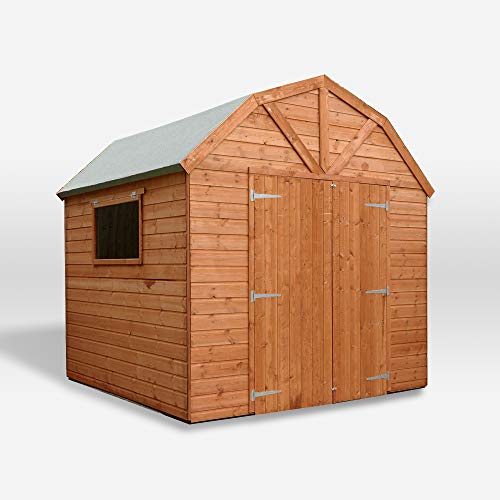 Waltons Wooden Garden Shed Dutch Barn 8x8 Outdoor Storage Building, Shiplap (8 x 8 / 8Ft x 8Ft)
