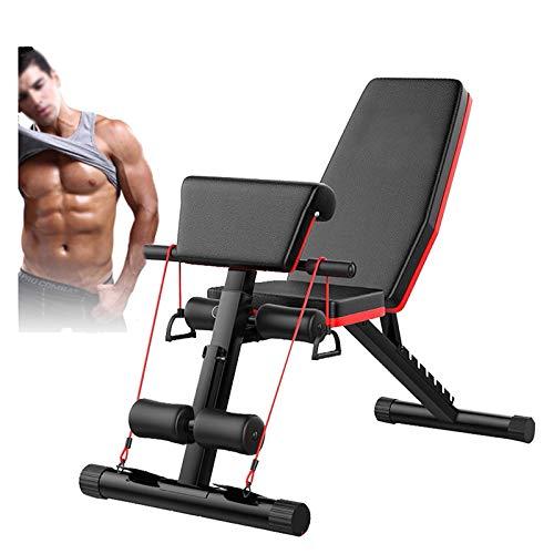 ZSCKJ Cama para levantamiento de pesas, banco de pesas plegable, cama de levantamiento de peso ajustable para gimnasia en casa, se utiliza para el entrenamiento de cuerpo entero.