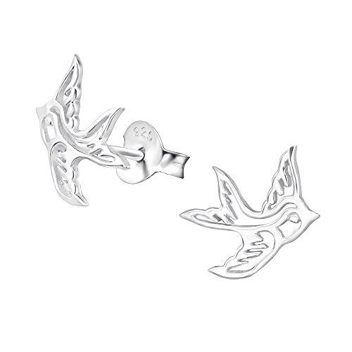 Swallow Bird Earrings - Sterling Silver Gift