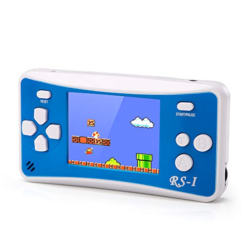 Handheld Game Console Retro Mini Game Player for Kids Adults Portable Arcade Machines Video Gaming 25#039#039 HD Screen Support TV/AV Output Builtin 152 Classic Games Birthday Gift for Boys Girls Blue