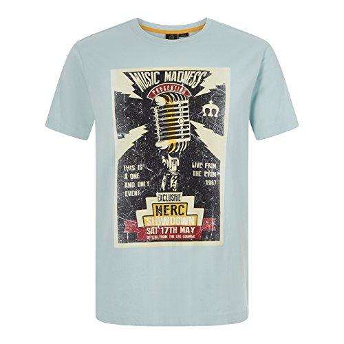 Merc Clothing Tee-Shirt À Col Rond D'Inspiration Rock Nesbitt Sea Green M