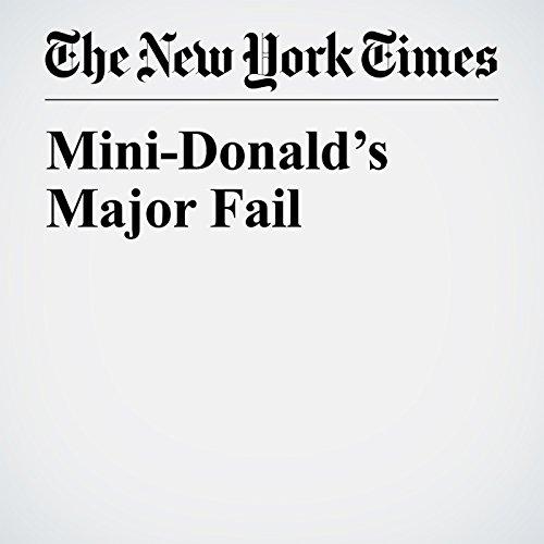 Mini-Donald's Major Fail copertina