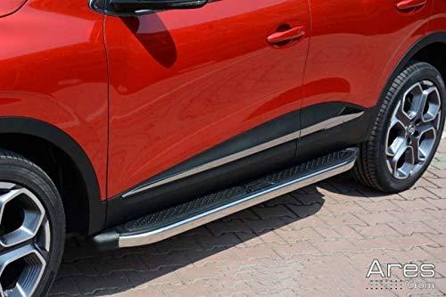 Trittbretter passend für Opel Mokka und Mokka X ab Baujahr 2012 Model Ares in Chrom mit TÜV und ABE