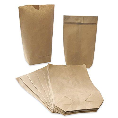 50 braune Kraft Papiertüten/Kreuzbodenbeutel/für Gastgeschenke, Adventskalender, Geburtstag, Hochzeiten/Geschenktüten im Set/Goodiebag/verpacken/Tüten/Vintage/Kraftpapier/Set