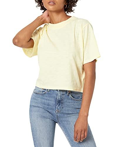 The Drop Sydney Camiseta de manga corta con cuello redondo y bajo corto Mujer