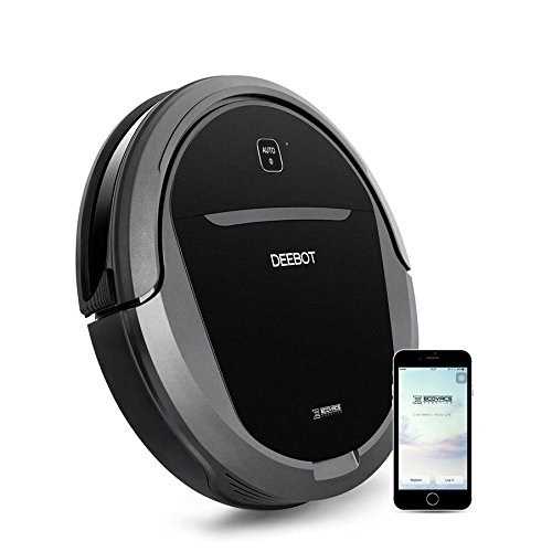 Ecovacs DEEBOT M81Pro Smart Robotic Vacuum Cleaner with Strong Suction for Pet Hair, Bare Floors and Low-Pile Carpet, Wifi Connected, Works with Alexa